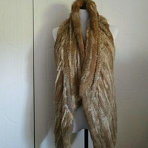 Other - Elizabeth James Size M Rabbit Fur Vest